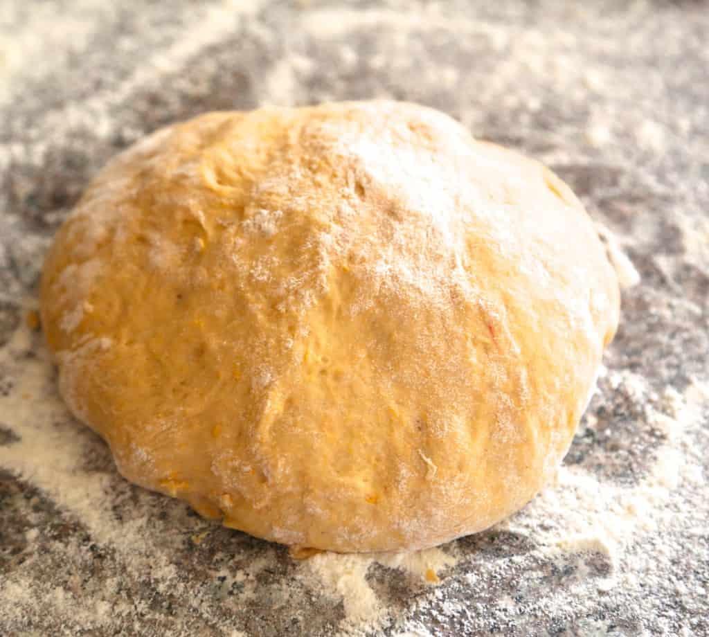 pumpkin cinnamon rolls dough ball