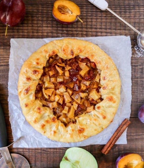Plum apple galette-4